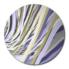 Wavy Ribbons Background Wallpaper Round Mousepads