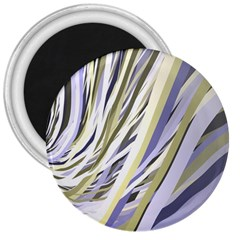 Wavy Ribbons Background Wallpaper 3  Magnets