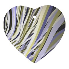 Wavy Ribbons Background Wallpaper Ornament (Heart)