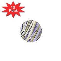 Wavy Ribbons Background Wallpaper 1  Mini Magnet (10 Pack)