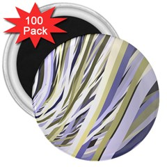 Wavy Ribbons Background Wallpaper 3  Magnets (100 Pack)