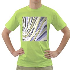 Wavy Ribbons Background Wallpaper Green T-Shirt