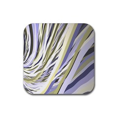 Wavy Ribbons Background Wallpaper Rubber Coaster (Square)