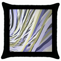 Wavy Ribbons Background Wallpaper Throw Pillow Case (Black)