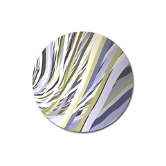 Wavy Ribbons Background Wallpaper Magnet 3  (Round)