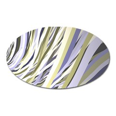 Wavy Ribbons Background Wallpaper Oval Magnet