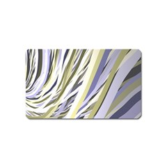 Wavy Ribbons Background Wallpaper Magnet (name Card)