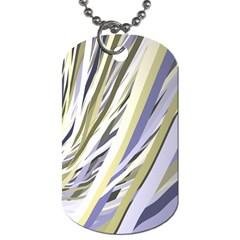 Wavy Ribbons Background Wallpaper Dog Tag (two Sides)