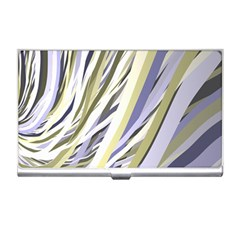 Wavy Ribbons Background Wallpaper Business Card Holders