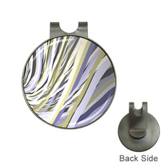 Wavy Ribbons Background Wallpaper Hat Clips With Golf Markers