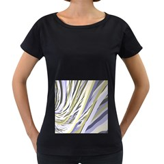 Wavy Ribbons Background Wallpaper Women s Loose Fit T Shirt (black)