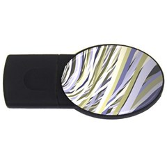 Wavy Ribbons Background Wallpaper Usb Flash Drive Oval (4 Gb)