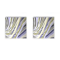 Wavy Ribbons Background Wallpaper Cufflinks (square)