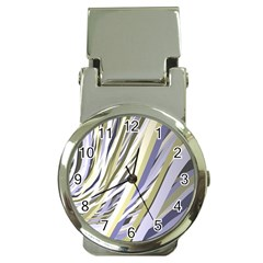 Wavy Ribbons Background Wallpaper Money Clip Watches