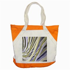 Wavy Ribbons Background Wallpaper Accent Tote Bag