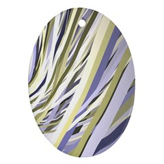 Wavy Ribbons Background Wallpaper Oval Ornament (Two Sides)