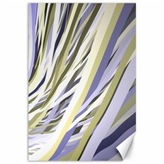 Wavy Ribbons Background Wallpaper Canvas 12  x 18