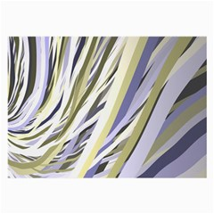 Wavy Ribbons Background Wallpaper Large Glasses Cloth (2-Side)