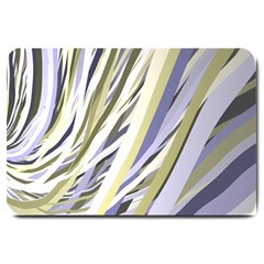 Wavy Ribbons Background Wallpaper Large Doormat