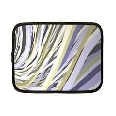 Wavy Ribbons Background Wallpaper Netbook Case (Small)