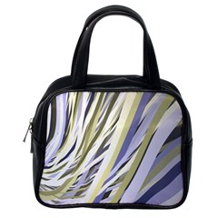 Wavy Ribbons Background Wallpaper Classic Handbags (One Side)