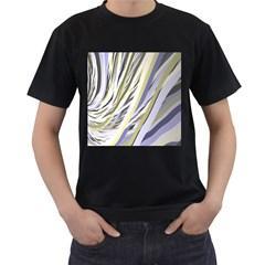 Wavy Ribbons Background Wallpaper Men s T-Shirt (Black)