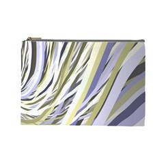 Wavy Ribbons Background Wallpaper Cosmetic Bag (Large)