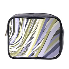 Wavy Ribbons Background Wallpaper Mini Toiletries Bag 2-Side