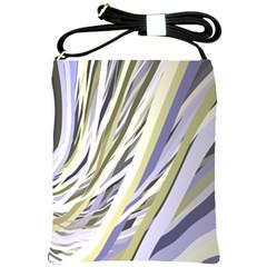 Wavy Ribbons Background Wallpaper Shoulder Sling Bags
