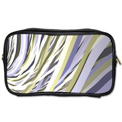 Wavy Ribbons Background Wallpaper Toiletries Bags
