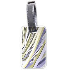 Wavy Ribbons Background Wallpaper Luggage Tags (one Side)