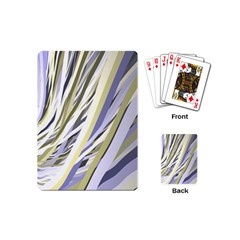 Wavy Ribbons Background Wallpaper Playing Cards (Mini)