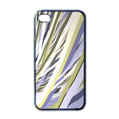 Wavy Ribbons Background Wallpaper Apple Iphone 4 Case (black)