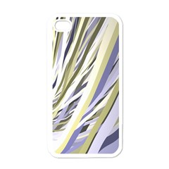 Wavy Ribbons Background Wallpaper Apple iPhone 4 Case (White)