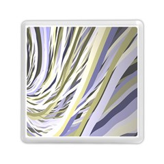 Wavy Ribbons Background Wallpaper Memory Card Reader (Square)