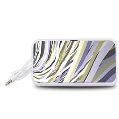 Wavy Ribbons Background Wallpaper Portable Speaker (White)