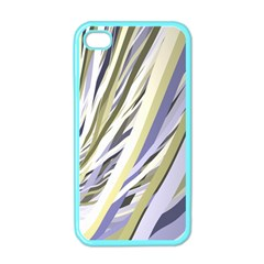 Wavy Ribbons Background Wallpaper Apple iPhone 4 Case (Color)
