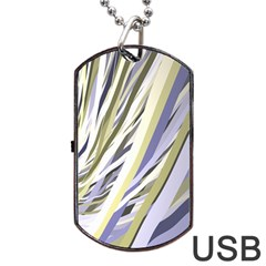 Wavy Ribbons Background Wallpaper Dog Tag USB Flash (Two Sides)