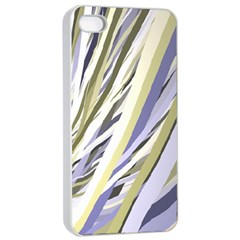 Wavy Ribbons Background Wallpaper Apple iPhone 4/4s Seamless Case (White)