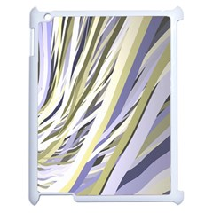 Wavy Ribbons Background Wallpaper Apple iPad 2 Case (White)