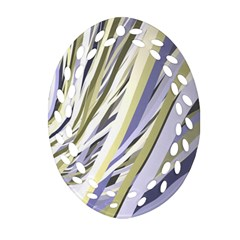 Wavy Ribbons Background Wallpaper Ornament (oval Filigree)