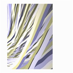Wavy Ribbons Background Wallpaper Small Garden Flag (two Sides)