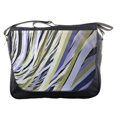 Wavy Ribbons Background Wallpaper Messenger Bags