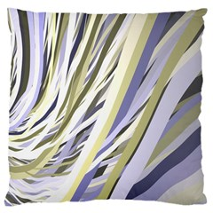 Wavy Ribbons Background Wallpaper Large Cushion Case (two Sides)