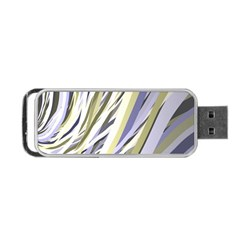 Wavy Ribbons Background Wallpaper Portable Usb Flash (two Sides)