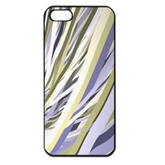 Wavy Ribbons Background Wallpaper Apple iPhone 5 Seamless Case (Black)