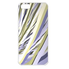 Wavy Ribbons Background Wallpaper Apple iPhone 5 Seamless Case (White)