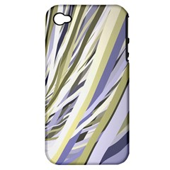 Wavy Ribbons Background Wallpaper Apple Iphone 4/4s Hardshell Case (pc+silicone)