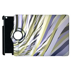 Wavy Ribbons Background Wallpaper Apple Ipad 3/4 Flip 360 Case