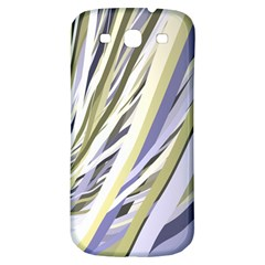 Wavy Ribbons Background Wallpaper Samsung Galaxy S3 S III Classic Hardshell Back Case
